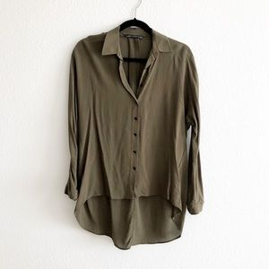 Zara high low blouse